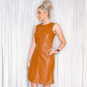 Piperlime Dresses - Piperlime Faux Leather PU Mini Dress